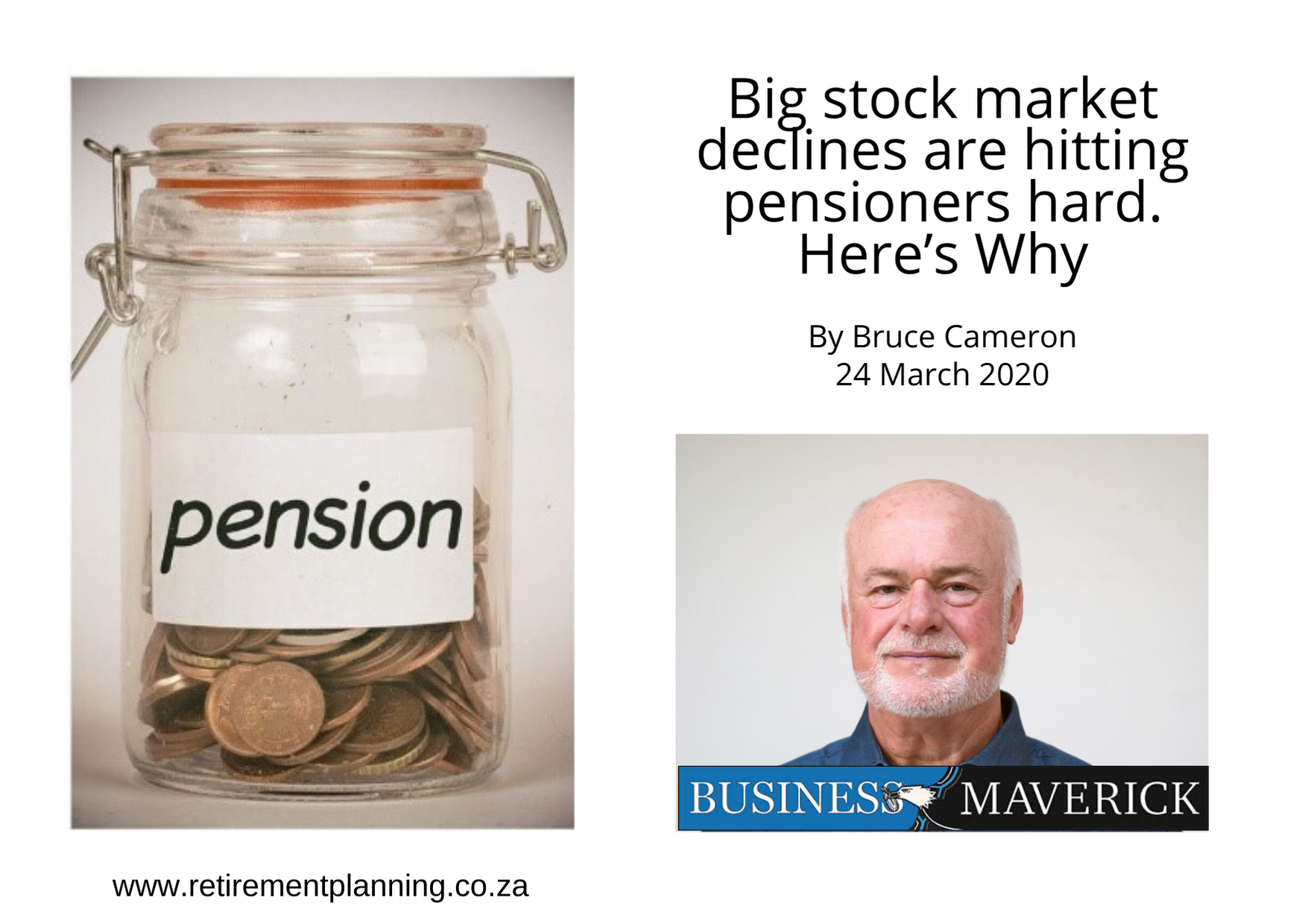 Bruce big stock market declines are hitting pensioners hard here is why 24032020