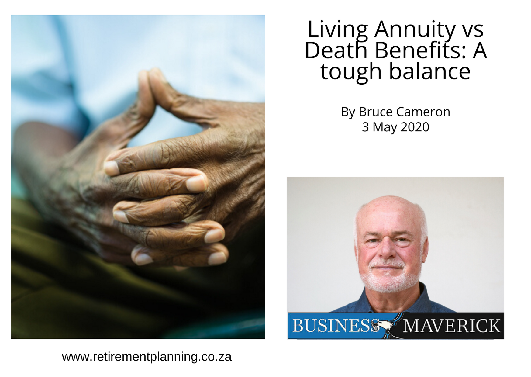 Bruce Cameron Living Annuity vs Death Benefits A tough balance By Bruce Cameron 03052020
