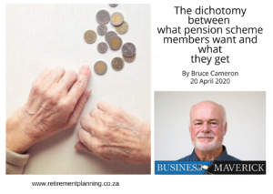 Bruce Cameron The dichotomy between what pension scheme members want and what they get 20042020