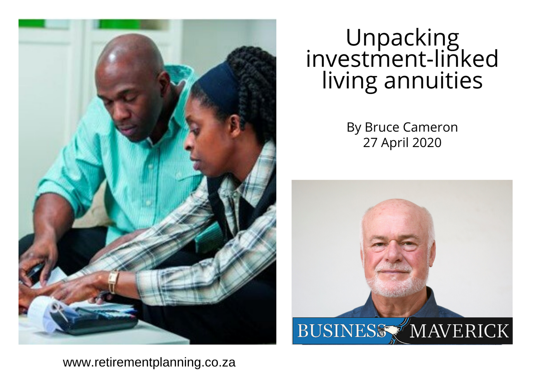 Bruce Cameron Unpacking investmentlinked living annuities 27042020