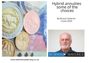 Bruce Cameron Hybrid annuities some of the choices 03062020