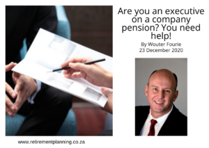 Wouter Fourie are you an executive on a company pension 23122020